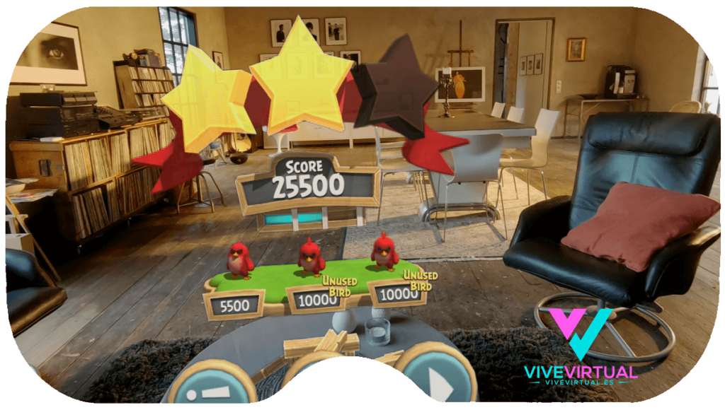 Angy Birds En Realidad Aumenta y Mixta Con Magic Leap One