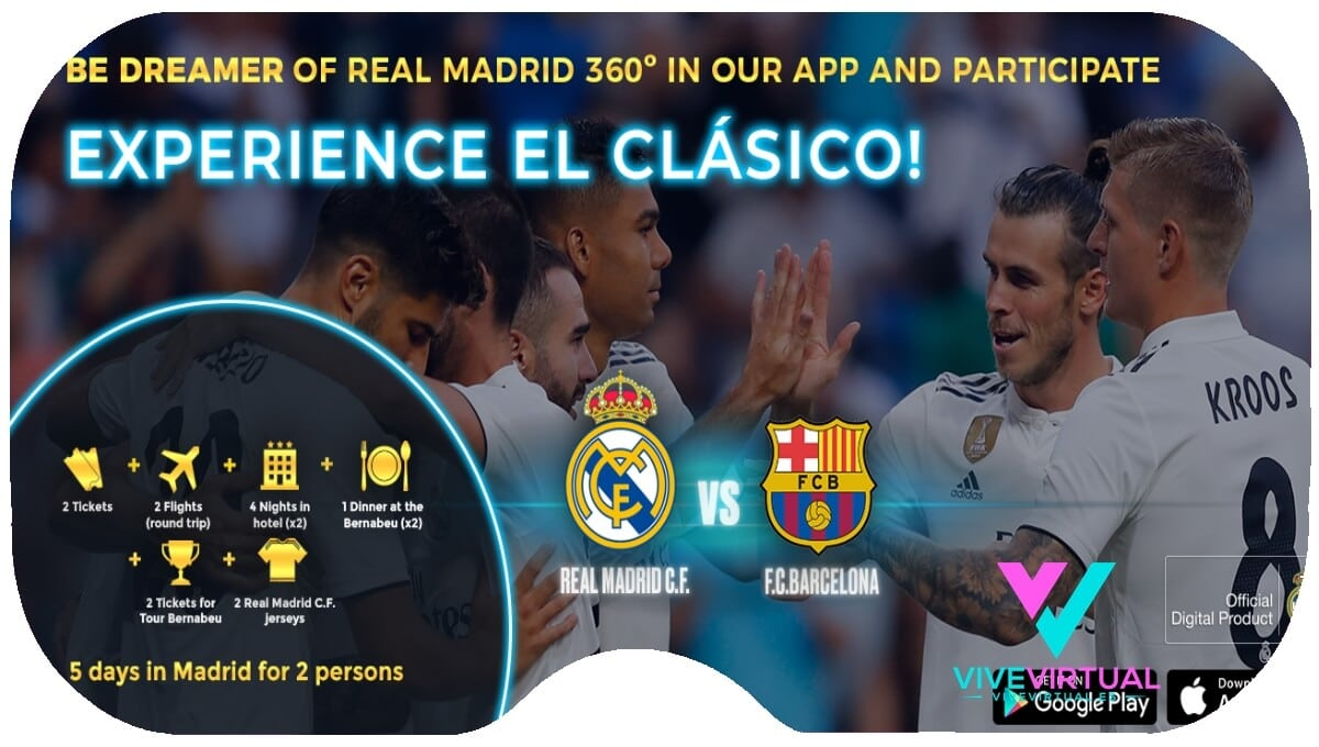 dream vr real madrid en realidad virtual con television 360 grados vive virtual